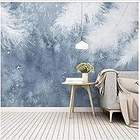 Bosakp カスタム壁紙3D写真壁画モダンミニマリスト手描きの羽小さな新鮮な北欧テレビの背景壁紙 200X140Cm