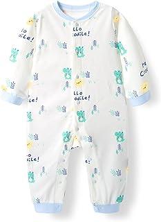 طفل أولاد بنت نمط طباعة رومبير ارتداءها مولود جديد قطعة واحدة رضيع خريف شتاء كم طويل بذلة (Color : 04, Size : 59CM)