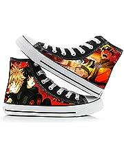 Heren Schoenen Jongens Meisjes Casual Canvas Sneakers Hoge Top Lace Up Casual Schoenen Wandelschoenen Dames Schoen 3D Anime Shoes Naruto