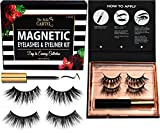 Magnetic Eyeliner and Lashes Kit | Magnetic Lashes with Magnetic Eyeliner Set | Magnetic Lashes and Liner Kit | Reusable Magnetic Lashes | Cruelty-Free Lashes (Day To Evening - 2 Pairs)