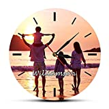 30 cm Reloj de Pared Reloj de Pared con Imagen de Foto Personalizada Impresión en HD a Todo Color Diseñe el Reloj de su Familia