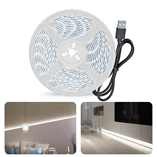 Tira LED Resistente al Agua IP65, Tiras de Luces con Mano Sensor Movimiento, Tira LED TV USB, Decoración Iluminación Ambiental para Dormitorio, Cocina, Baño, Barandilla de Escalera, Armario, Fiesta