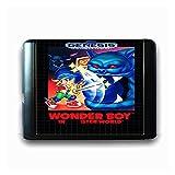White Poplar Zchunrong Wonder Boy en Monst World Fit for 16 bits Sega Maryland Carne DE Juego FIT for Mega Drive FIT for Genesis Consola DE Video CC (Color : JAP Shell)