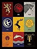 Game Of Thrones Juego de Tronos 30 x 40 cm sigilos impresión enmarcada