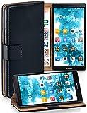 MoEx Étui Folio à Support vidéo Compatible Huawei Mate 7   Fente pour Argent/Cartes, Noir