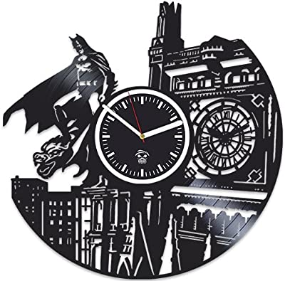 Batman Returns Gotham City, Best Gift Man, Vinyl Record Clock, Kovides Vinyl Wall