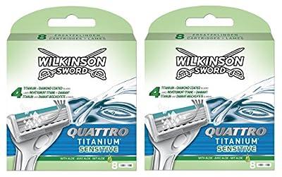 Wilkinson Sword Quattro titanium sensitive razor blades