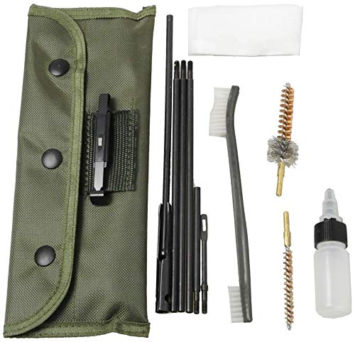 Buy SZBEJMYA Gun Cleaning Kits Rifle Gun Bore Cleaning Kit Set Shotgun Cleaner Brush Rod Maintenance for .22 22LR .223 556 Caliber with Durable Pouch Accessories