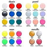 Arteza Pouring Acrylfarbe, 32 Stück-Set, 60 ml Flaschen mit vielen Farbtönen, flüssige Gießfarbe, kein Mischen erforderlich, Farbe zum Gießen auf Leinwand, Glas, Papier, Holz, Fliesen und Steine - 7