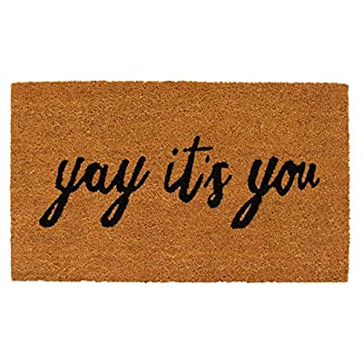Calloway Mills AZ106051729 Yay It's You Doormat, Natural/Black