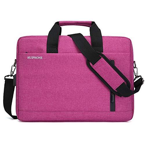 15,6 inch laptopkoffer voor laptop, tablet, laptop, grote inhoud, voor heren, 1 schoudertas, 40 × 30 × 10 cm, USB-update, rood