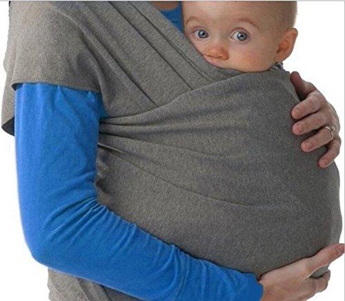 Lumière Matière extensible Porte-bébé Porte-bébé bébé Wraps, gris foncé, taille unique
