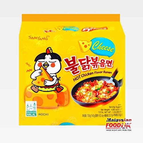Samyang Hot Chicken Buldak Ramen Noodle Cheese Flavor (Pack of 5)