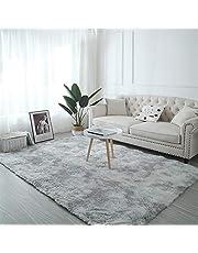 Matta 200 x 320 cm, inomhusmatta, halkfri lurvig för vardagsrum, sovrum, barnrum, matsal – grå