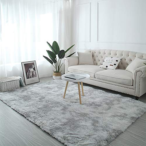 AMCER Alfombra 180x230cm, Alfombra De Salón Moderna, Super Suave Acogedor, para salón Dormitorio baño sofá Silla cojín - Gris