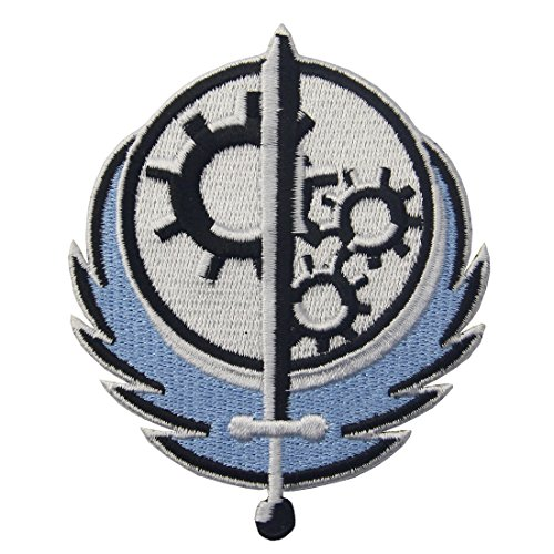 CasStar Aufnaeher Aufbuegler Patches Applikation Men's Fallout Style Brotherhood of Steel BOS