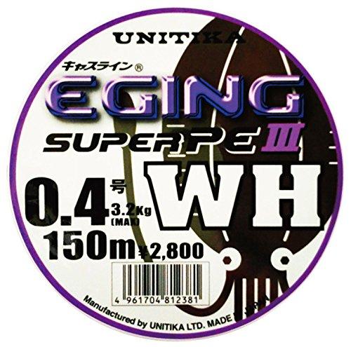 ユニチカ『キャスライン(R) エギングスーパーPEIII WH 0.6号』