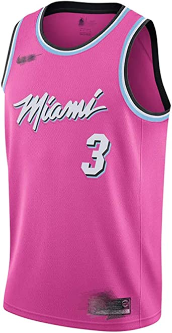 Camiseta de Baloncesto Miami Heat 3 Dwyane Wade Rockers Blue City Edition Jersey