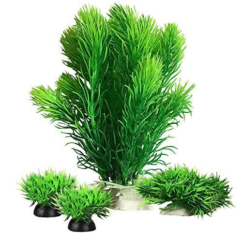 Smoothedo-Pets Plantes d'aquarium en plastique pour décoration d'aquarium, petite/haute 17,3 cm, plante artificielle pour poissons rouges, paysage aquatique, cachette pour aquarium