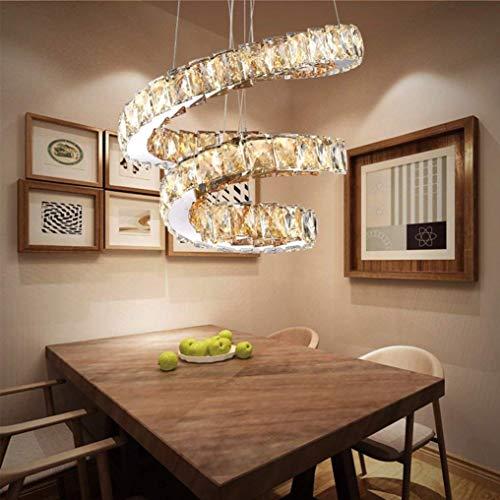 XXYHYQHJD Inoxidable LED 80w lámpara de Cristal K9 Inoxidable romántico Restaurante diseño de la lámpara de iluminación remota de Control Regulable Colgante de luz