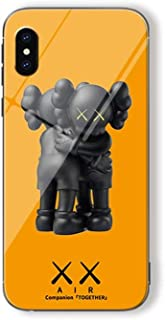 Yunhine KAWS X Sesame Street Tempered Glass Phone Case for iPhone X/XS