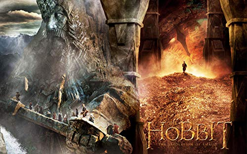Slbtr 3D Wooden Puzzle Set 1000 Pieces - Lord Of The Rings-Hobbit Poster W - Diy Model Kits For Adults Teens And Children - Ideal Christmas And New Year Gift - Gorgeous Home Décor