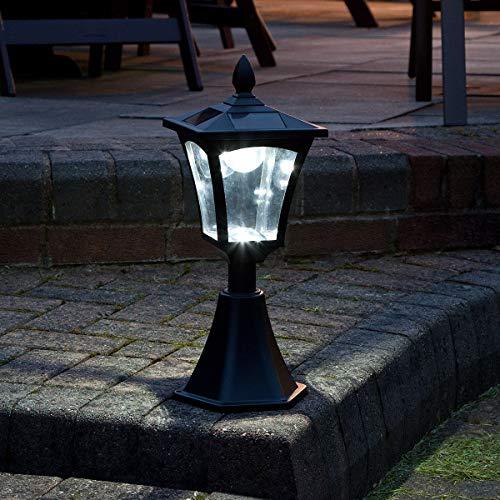 42cm klassische Außen Solar Leuchte, schwarz, LEDs in weiß von Festive Lights