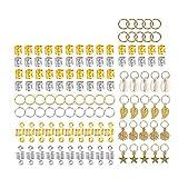 140 Piezas de Anillo de Puños de Dreadlocks de Aluminio de Accesorios de Clip de Pelo Trenzado, Anillos de Trenza de Pelo Puños de Pelo de Metal Abalorios de Trenza para Accesorios de Peinado