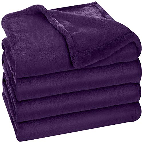 Utopia Bedding Fleece Blanket King Size Purple 300GSM Luxury Bed Blanket Fuzzy Soft Blanket Microfiber