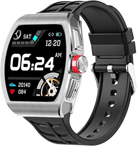 Reloj Inteligente De 1.4 Pulgadas Hombres Bluetooth Llamada IP68 Impermeable Smartwatch Mujeres Frecuencia Cardíaca Monitor De Presión Arterial Fitness Podómetro-Plata