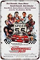 なまけ者雑貨屋 メタルサイン (The Cannonball Run Movie Poster) さび風デザイン ブリキ看板