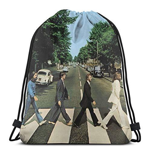 ZVEZVI The Beatles Bolsos con cordón Ajustable Mochila Bolsa de Gimnasio Ligera para Pareja Hombres Mujeres Deportes al Aire Libre