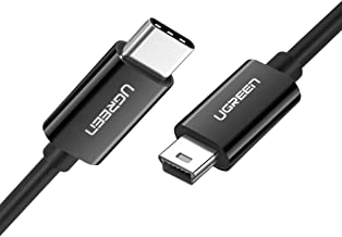 UGREEN Mini USB to USB C Cable USB Type C to Mini USB Cable for Digital Camera MP3 Player and More Mini B USB Devices Blac...