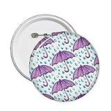 Violet aquarelle Parapluie pluie broches rondes badge Button Vêtements Décoration 5pcs Cadeau XL multicolore