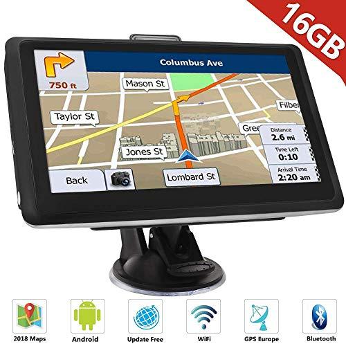 Hieha Auto GPS Navigationsgerät 7' Zoll Navi...
