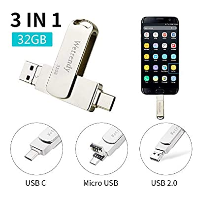 USB C Drive 32GB Phone USB Drive,100% Real Capacity 3 IN 1 from simi tech