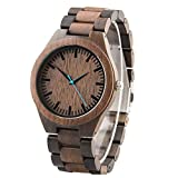 Personalisierte gravierte hölzerne Armbanduhr für Männer hölzerne Uhr für Ehemann oder Freund - Jubiläumsgeschenk für Männer