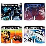 FREEGUN Star Wars - Calzoncillos tipo bóxer para hombre, diseño de Darth Vader Imperator, 4 unidades, tallas S, M, L, XL y XXL Diseño 3 S