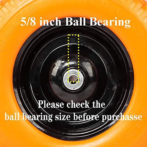 16 inch Flat Free Wheelbarrow Tire 4.80/4.00-8, 3.5