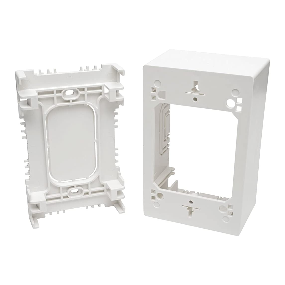 Tripp Lite Single-Gang Surface-Mount Junction Box, Wallplate, White (N080-SMB1-WH)