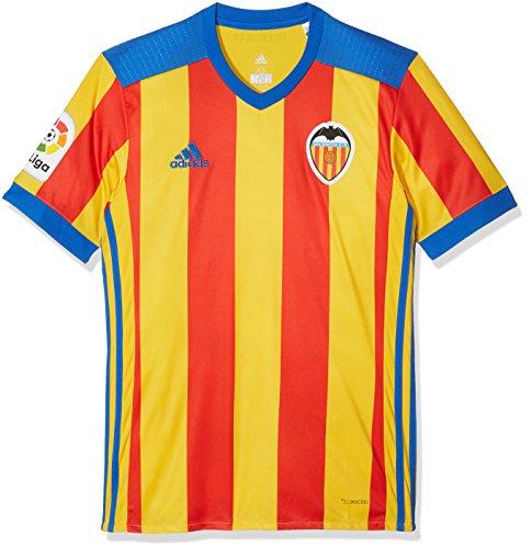 adidas Herren FC Valencia Replica Auswärtstrikot, Rot, L