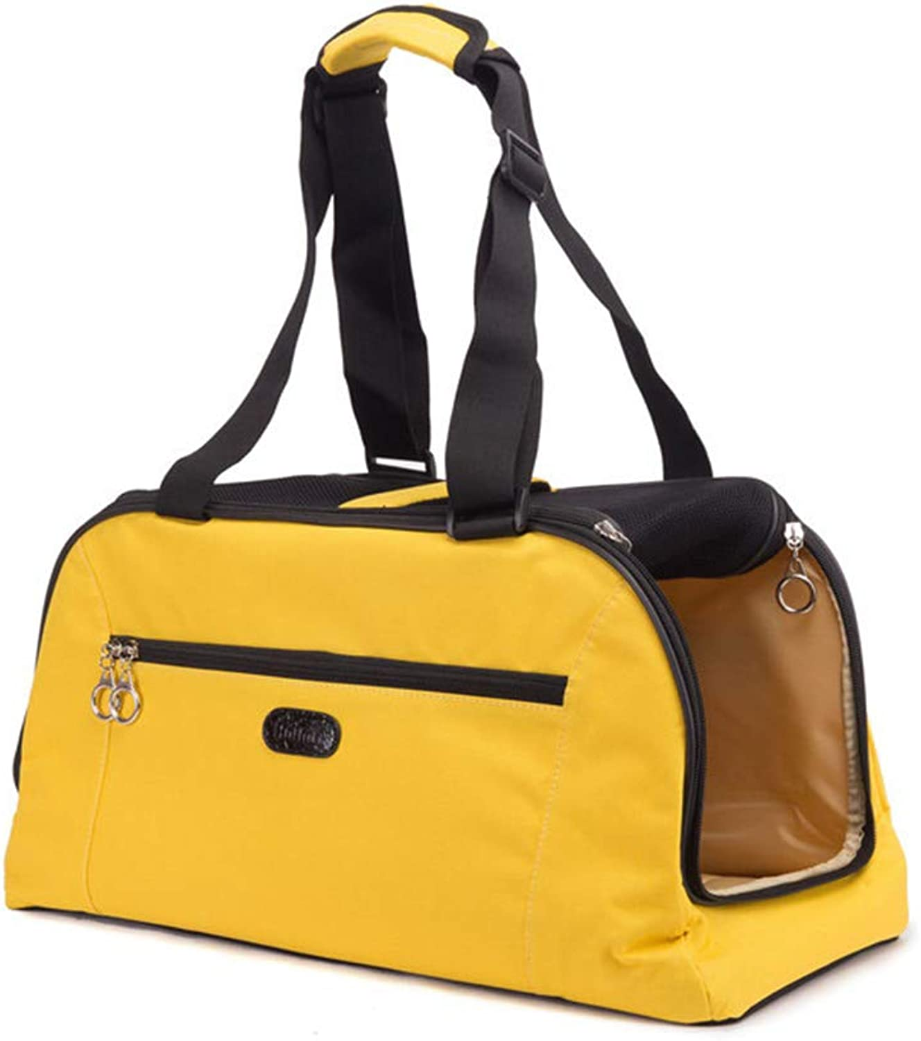 Dog Cat Carrier, Breathable Pet Transport Tote Bag for Small and Medium Pets for Outdoor Camping