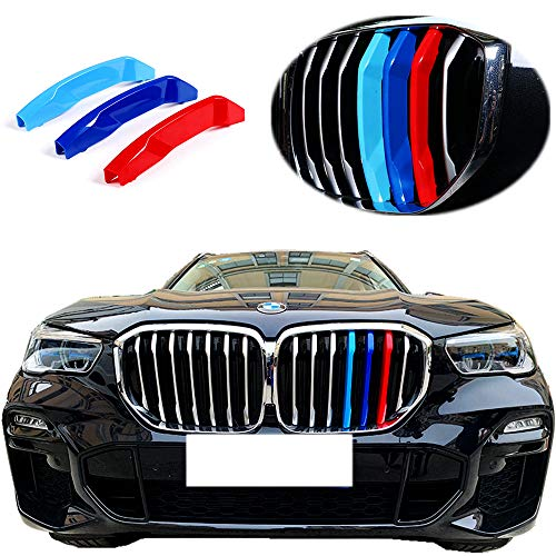 Exact Fit ///M-Colored Grille Insert Trims for 2019 2020 2021 BMW X5 G05 Accessories for w/Standard Kidney Grille (7Beams)