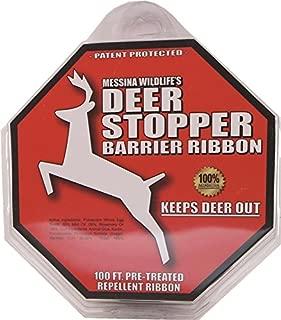 Messina Wildlife DB-R-100 Deer Stopper 100' Barrier Ribbon, 4.8 oz., Organic, Red