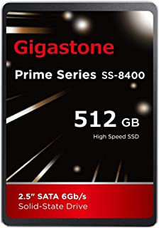 "Gigastone 512GB 内蔵 2.5インチ SSD 3D NAND搭載 SATA III 6Gb/s 2.5 inch 7mm (0.28"") 最大読み込み速度 550MB/s 3年保証"