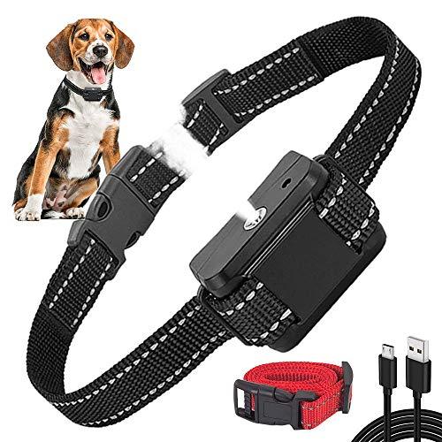 Queenmew Collari Antiabbaio, Automatico Spray Collare Anti-Abbaio per Cani, Dispositivo Ricaricabile e Sicuro per Addestramento Comportamento Cane, Sensibilità e Volume Regolabile