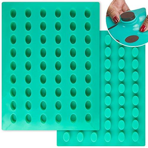 O 'creme Oval Candy Tablet Silikon Form für Schokolade Trüffel, canache, Jelly, Pralinen, und Servieren