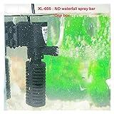 Sumergible Mini Filtro Interno 3 En 1 Filtro Acuario Multifunción Filtro De Peces Buck Bump Loop Spray Para el estanque de acuarios. (Color : XL 666)