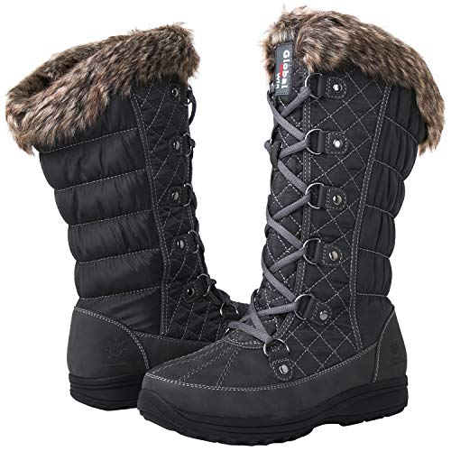GLOBALWIN Women's 1816 Snow Boots (8.5 M US Women's, 1816Grey)