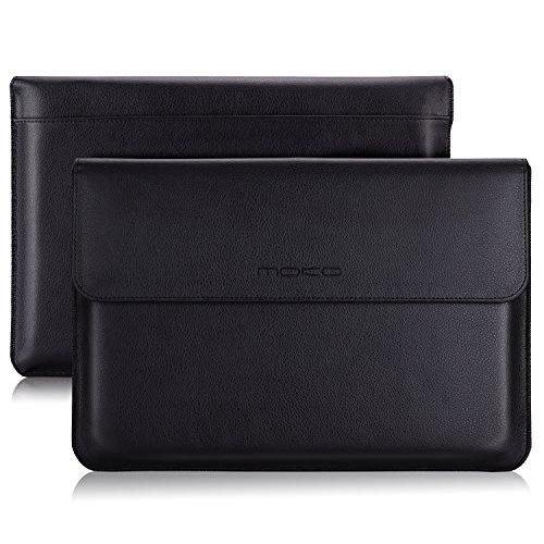 "MoKo Funda de 12.3 Inch Sleeve Bag Bolsa de Manga Maletín de Cuero PU Portátil Compatible con New Surface Pro 2017 / Pro 4 / Pro 3 / Pro LTE 12.3"" con Surface Portapluma - Negro"